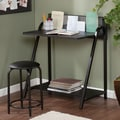 Wildon Home   Jennings 2 Piece Writing Desk and Stool Set; Black