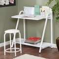 Wildon Home   Jennings 2 Piece Writing Desk and Stool Set; White