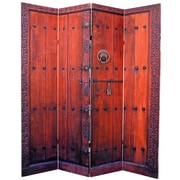 Oriental Furniture 70.87'' x 63'' Double Sided Doors 4 Panel Room Divider