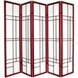 Oriental Furniture Eudes 5 Paned Room Divider; Rosewood