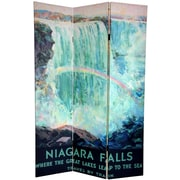 Oriental Furniture 72'' x 48'' Double Sided Niagara Falls 3 Panel Room Divider