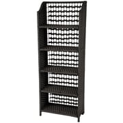 Oriental Furniture Natural Fiber Shelving Unit; Black