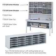 Safco Products E-Z Sort Steel Mail Sorter Module, Light Gray Steel