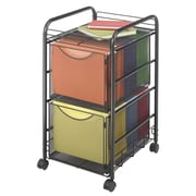Safco Products Onyx Mesh Mobile Double File Cart