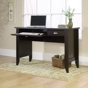 Sauder Shoal Creek Computer Desk with Keyboard Tray; Jamocha Wood