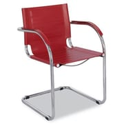 Safco Products Flaunt Leather Guest Chair; Red Leather