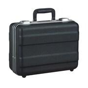 Platt Heavy-Duty Polyethylene Case with Parallel Rib Pattern in Black: 10.5 x 14.13 x 6