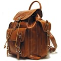 Floto Imports Roma Backpack; Olive (Honey) / Brown