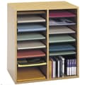 Safco Products Small Wood Adjustable-Compartment Literature Organizer; Oak