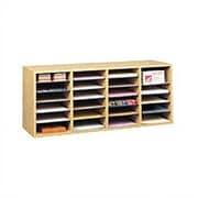 Safco Products Medium Wood Adjustable-Compartment Literature Organizer; Oak
