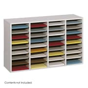 Safco Products Wood/Laminate Literature Sorter; Gray