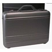 Bond Street Tech-Rite Slim Laptop Attache Case; Silver