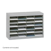 Safco Products Steel Literature Organizer with 24 Letter-Size Compartments; Gray