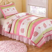 My World Crazy Pink Ladybug Quilt Set; Full/Queen