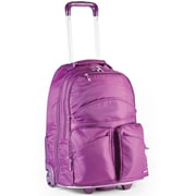 Frommer's Rocket Roller Laptop Backpack; Plum Purple
