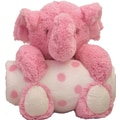 beansprout Animal and Blanket Elephant Toy and Blanket; Pink