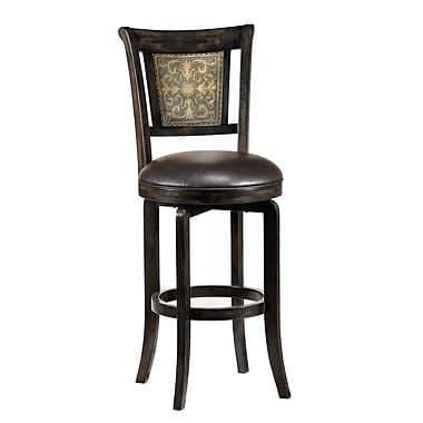 Hillsdale Camille 26.5'' Swivel Bar Stool with Cushion
