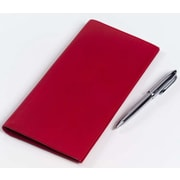 Clava Leather Colored Leather Travel Wallet; Red