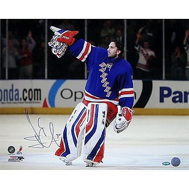 Steiner Sports NHL Henrik Lundqvist Rangers Blue Jersey Point Horizontal Photograph