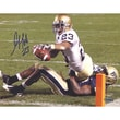 Steiner Sports Golden Tate Notre Dame White Jersey Goal Line Horizontal Autographed Photograph