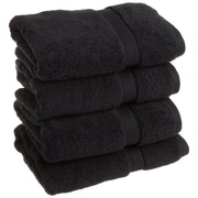 Simple Luxury Superior Egyptian Cotton Hand Towel; Black