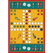 Learning Carpets Play Carpet Parcheesi Kids Rug; 3' x 4'4''