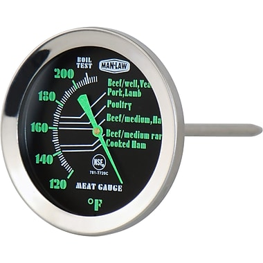 Man Law BBQ Glow in Dark Meat Thermometer