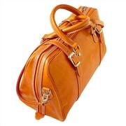Floto Imports Trastevere 18'' Leather Travel Duffel; Orange