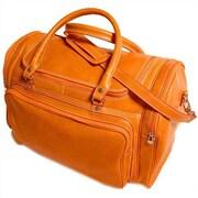 Floto Imports Torino 20'' Leather Travel Duffel; Orange