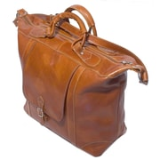 Floto Imports Tack 16'' Leather Travel Duffel; Olive Brown
