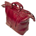 Floto Imports 16'' Tack Leather Travel Duffel; Tuscan Red