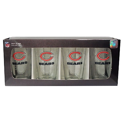 Boelter Brands NFL Pint Glass (Set of 4); Chicago Bears WYF078276160989