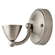 Lithonia Lighting LED Sconce Bullet Base Fitter; Brushed Nickel