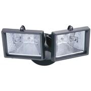 Lithonia Lighting Security 2-Light Outdoor Floodlight; Bronze