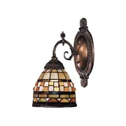 Landmark Lighting Mix-N-Match 1 Light Wall Sconce with Geometric Design Glass Shade