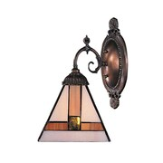 Landmark Lighting Mix-N-Match 1 Light Wall Sconce with Triangle Shaped Glass Shade