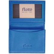 Floto Imports Firenze Leather Business Card Case; Blue