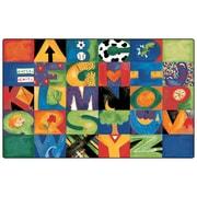 Carpets for Kids Printed Hide n'Seek ABC Area Rug; 7'6'' x 12'