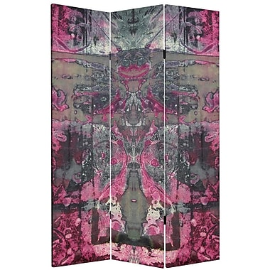 Oriental Furniture 71'' x 47.25'' Double Sided Cosmic Debris 3 Panel Room Divider
