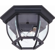 Artcraft Lighting Classico 2 Light Outdoor Hexagonal Flush Mount; Black