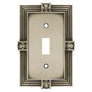Franklin Brass Pineapple Single Switch Wall Plate; Brushed Satin Pewter