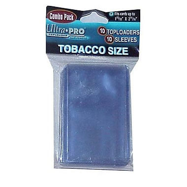 Ultra Pro Tobacco Toploaders and Sleeves Combo (10 Packs)