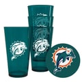 Boelter NFL Plastic Pint Cup (Set of 4); Miami Dolphins