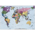Brewster Home Fashions Komar World Map 4-Panel Wall Mural