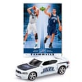 Upper Deck NBA Dodge Chargers Die-cast with Basketball Card - Utah Jazz