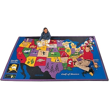 Carpets for Kids Geography Discover America Area Rug; 8'4'' x 11'8''