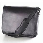 Clava Leather Quinley Leather Messenger Bag; Black