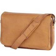 Clava Leather Quinley Leather Messenger Bag; Tan