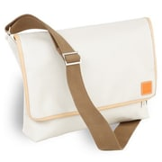 Clava Leather Carina Messenger Bag; Stone
