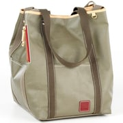 Clava Leather Carina Two Face Tote Bag; Army